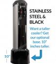 XO Water BottleLess Water Cooler BDX1-SS with stand