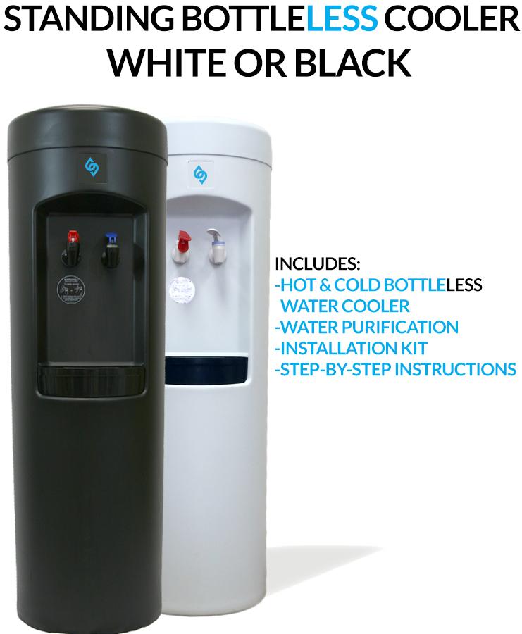 BDX1-W and BDX1-B BottleLess Water Cooler - White or Black