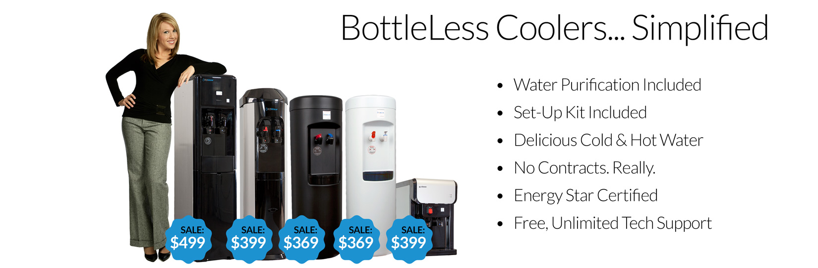 XO bottleless water coolers shop landing pic