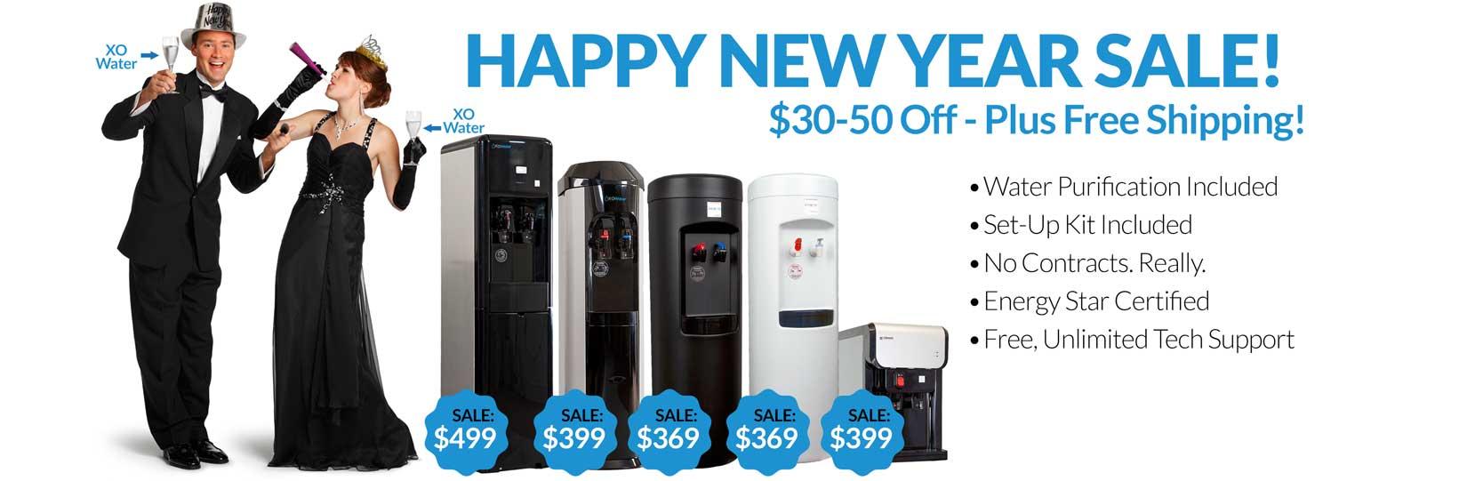XO bottleless water cooler lineup - New Years sale