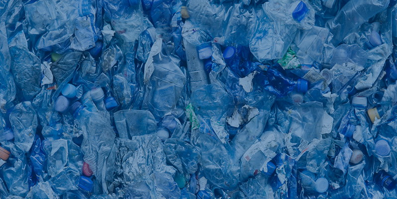 Plastic water bottles in landfills