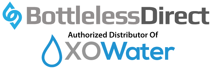 BottleLess Direct logo with XO Water