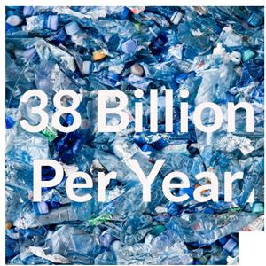 38 Billion Plastic Water Bottles Per Year