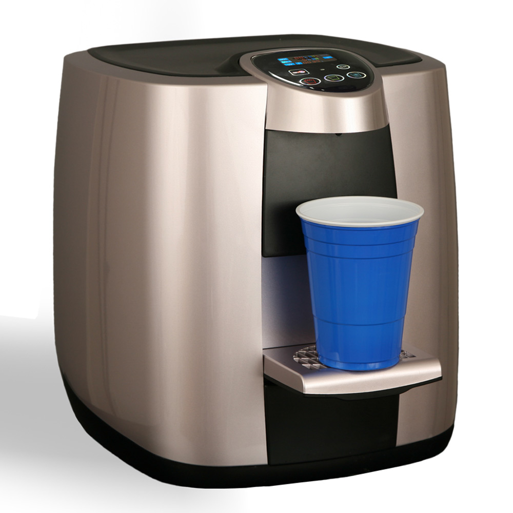 XO1-CTC with cup bottleless countertop water cooler from XO Water
