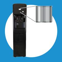 stainless steel reservoirs inside every xo water bottleless cooler